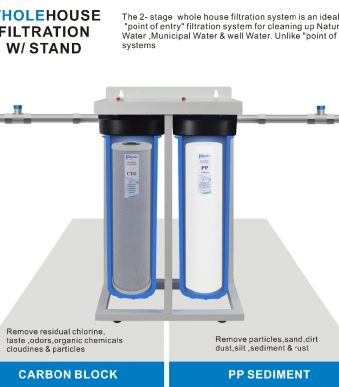 2-Stage-Whole-House-Water-Filtration-System-1-inch-BRASS-port-with-Stand-20-Big-Blue